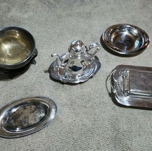 Vintage antique silver set